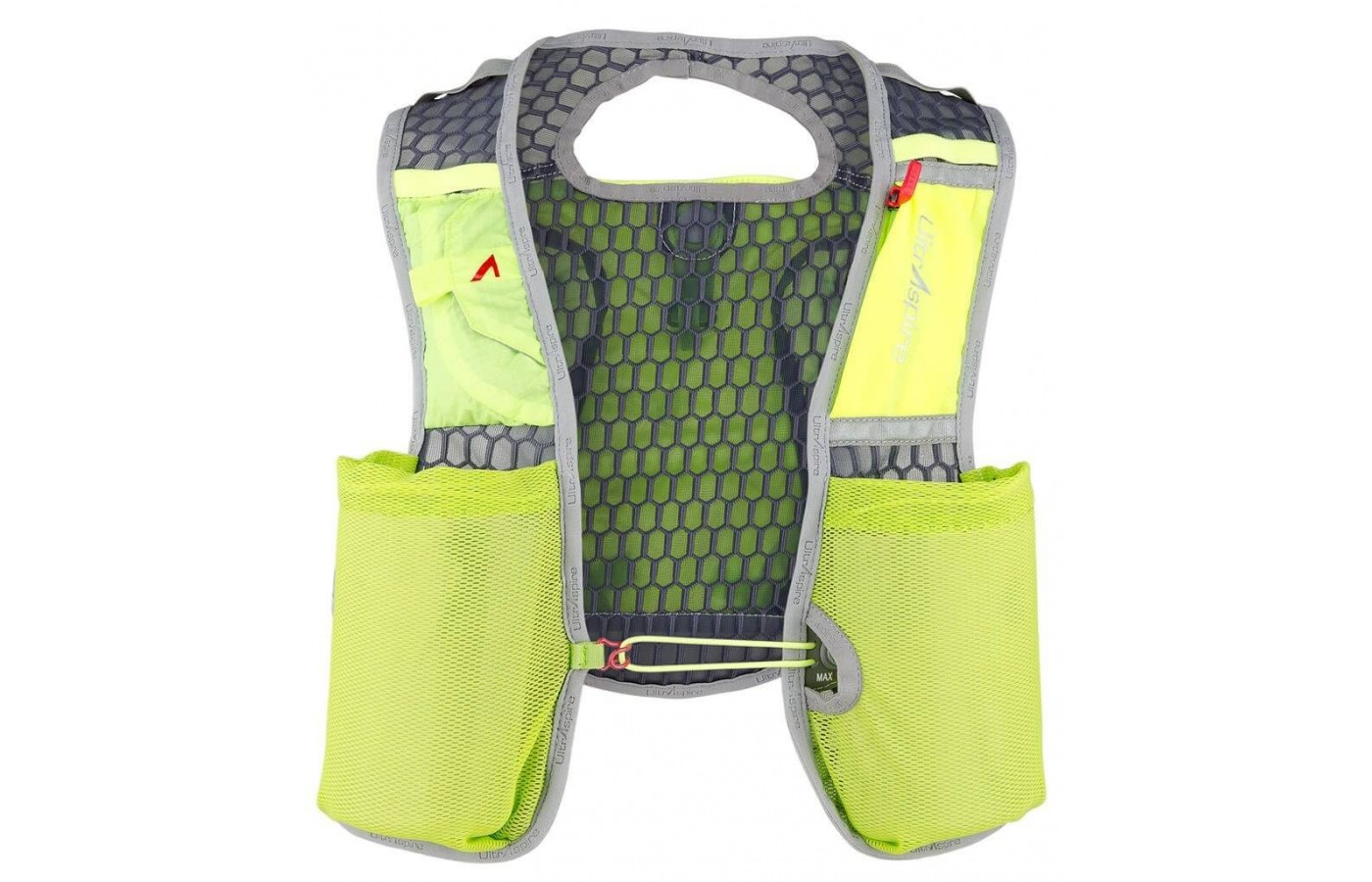The UltrAspire Spry 2.0 Vest is a lightweight vest ideal for ultra runners, marathoners, and obstacle race participants