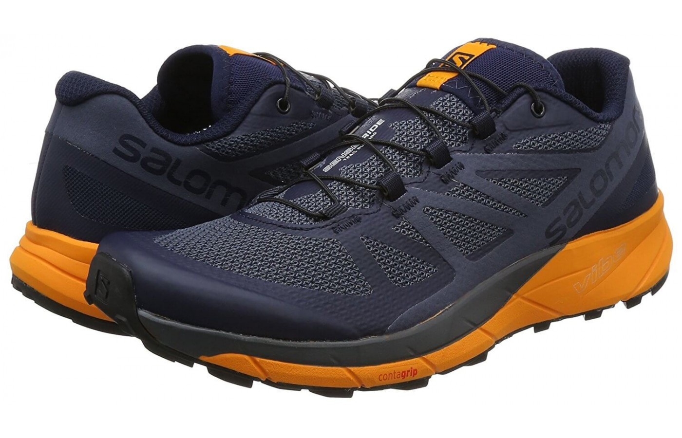 The Salomon Sense Ride has a breathable, water resistant upper.