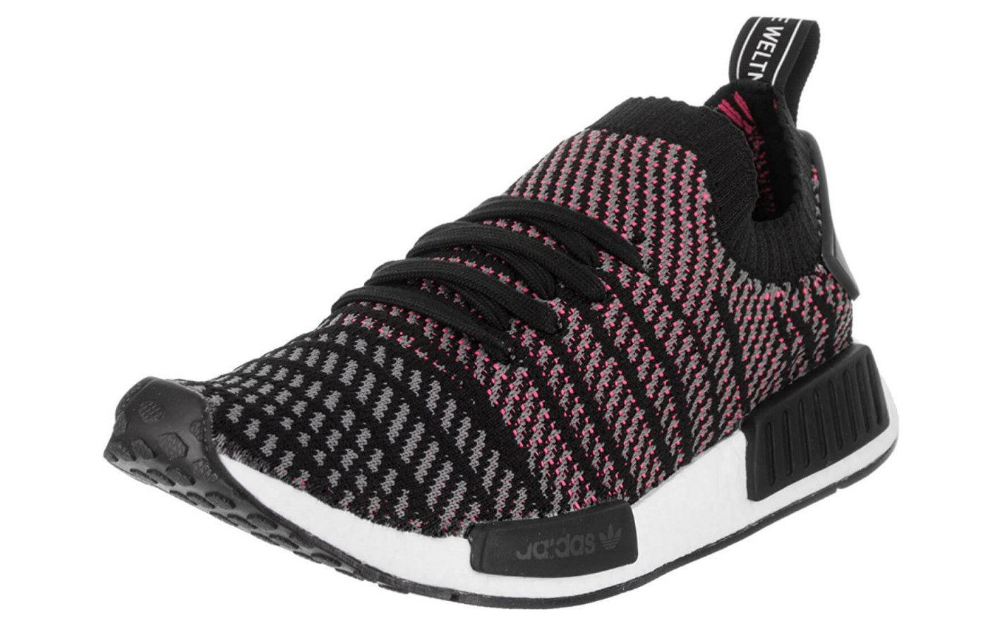 75eb80638edb The Adidas NMD R1 Stlt Primeknit features a Primeknit upper ...