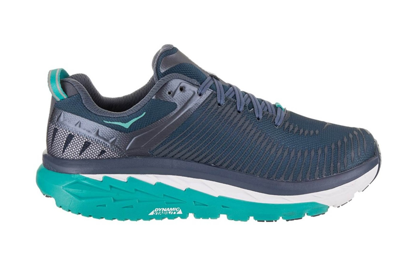 The Hoka One One Arahi 2 features EVA midsole cushioning