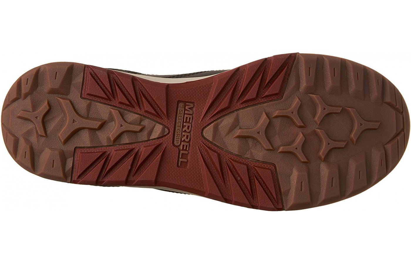 The Merrell Berner Shift Lace has an M Select Grip outsole
