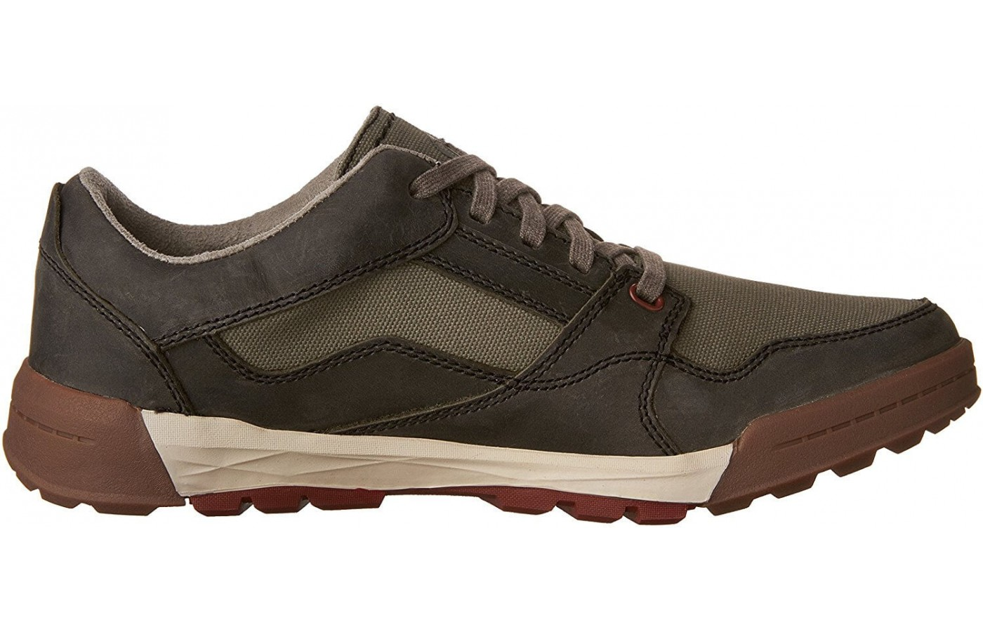 The Merrell Berner Shift Lace features Air Cushion to absorb impact