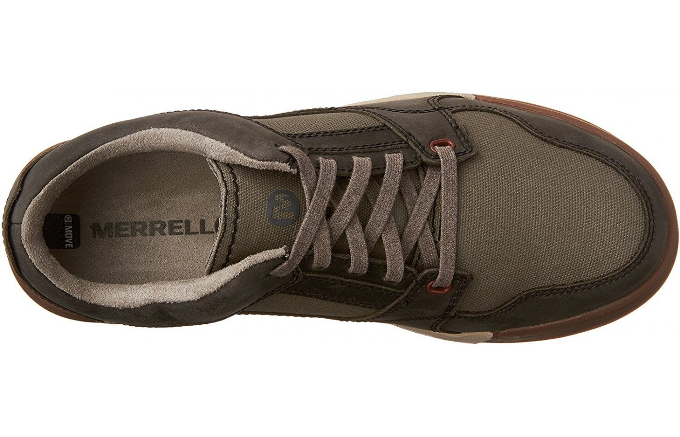 The Merrell Berner Shift Lace features an M Select Fresh liner