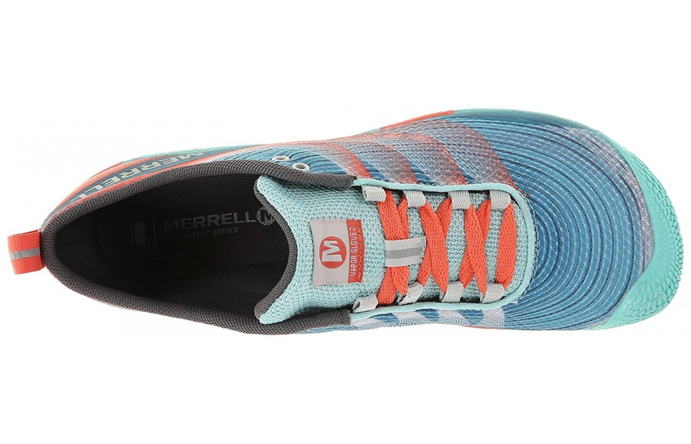 The Merrell Vapor Glove 3 features a wide toe box