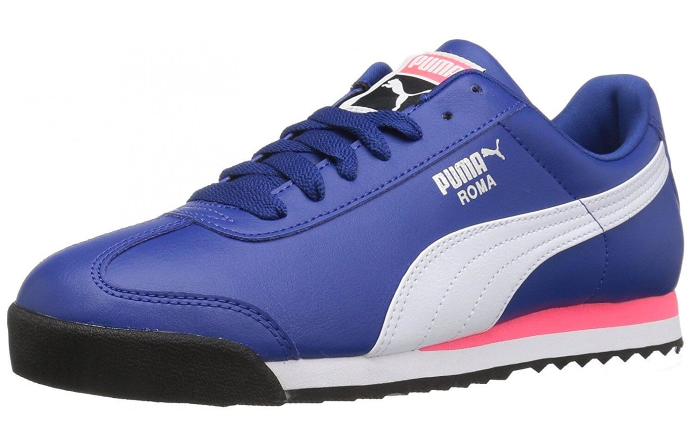 finest selection 402c9 49ab1 The Puma Roma features a faux-leather upper ...