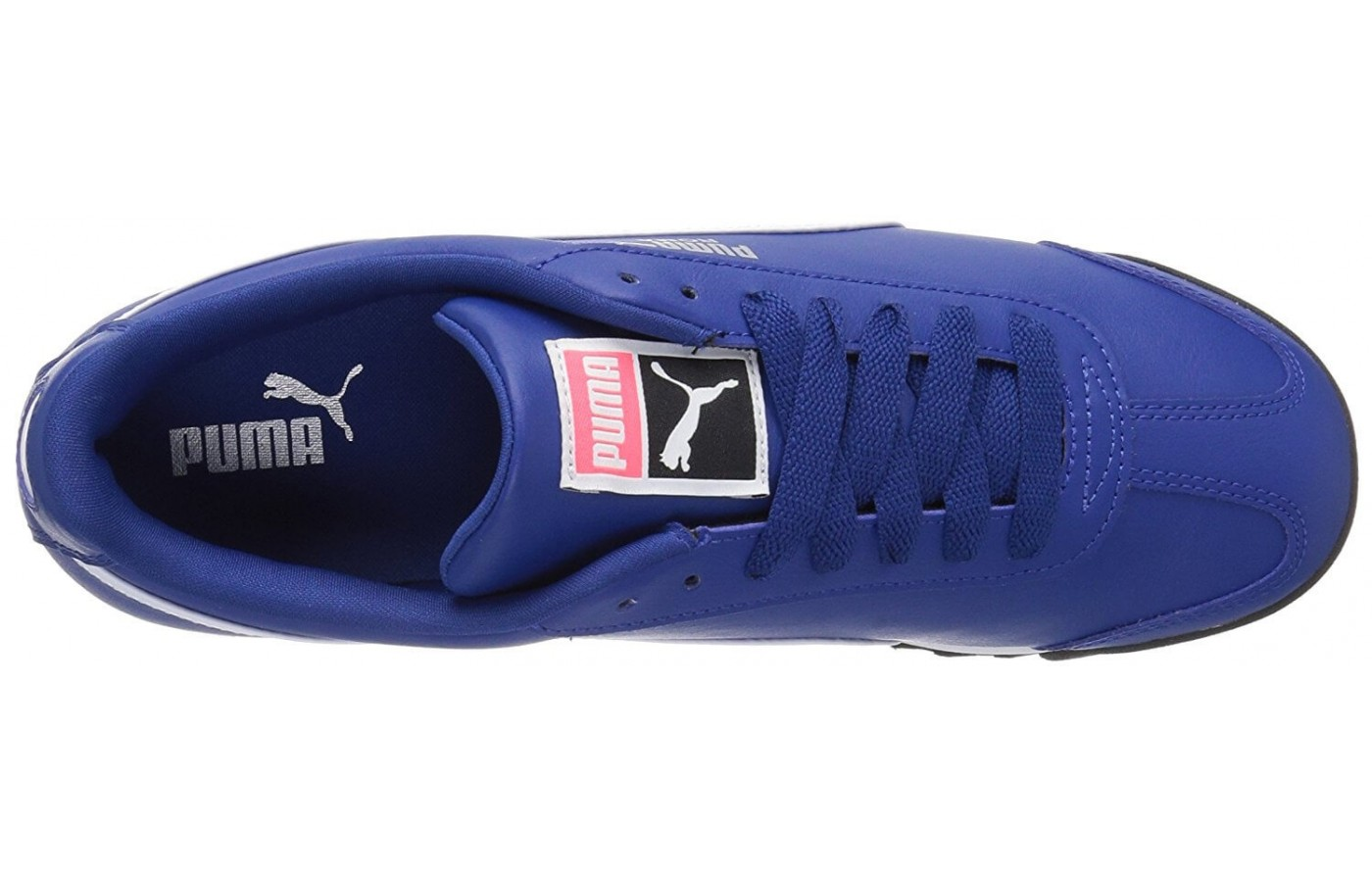 The Puma Roma features traditional laces