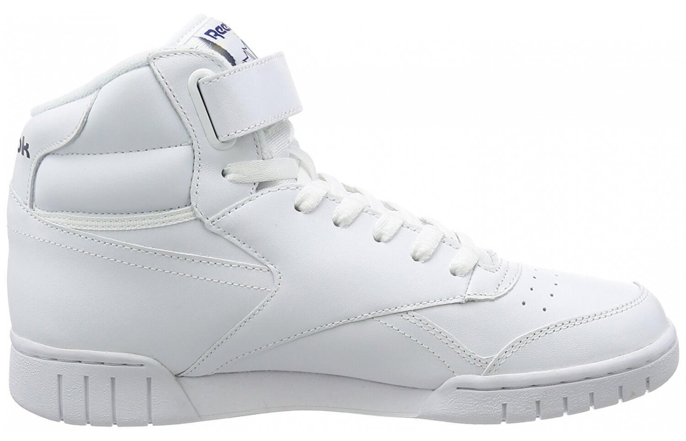 The Reebok Ex-O-Fit Hi features a leather upper