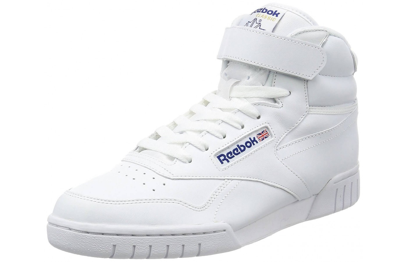 80a0caf6dfe The Reebok Ex-O-Fit Hi features a supportive high-cut design ...