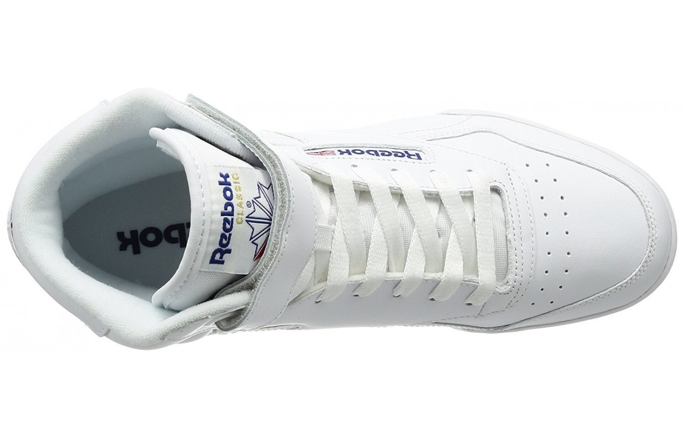 The Reebok Ex-O-Fit Hi features an ankle strap for support