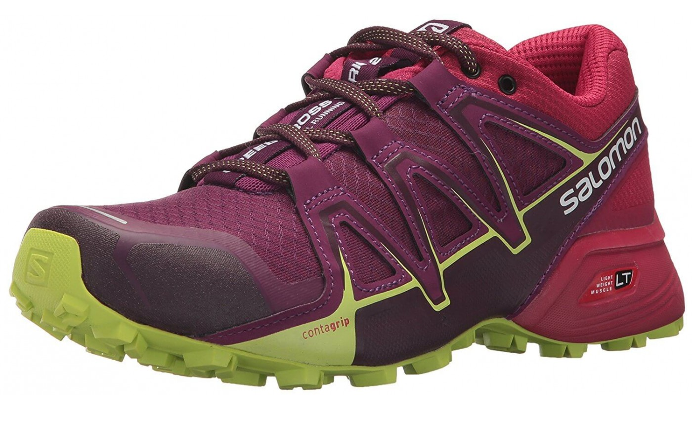 The Salomon Speedcross Vario 2 features a Mud Guard midsole wrap