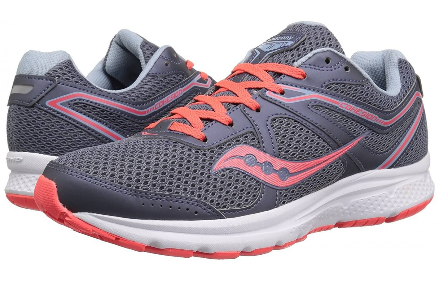 The Saucony Cohesion 11 features a GRID cushioning system