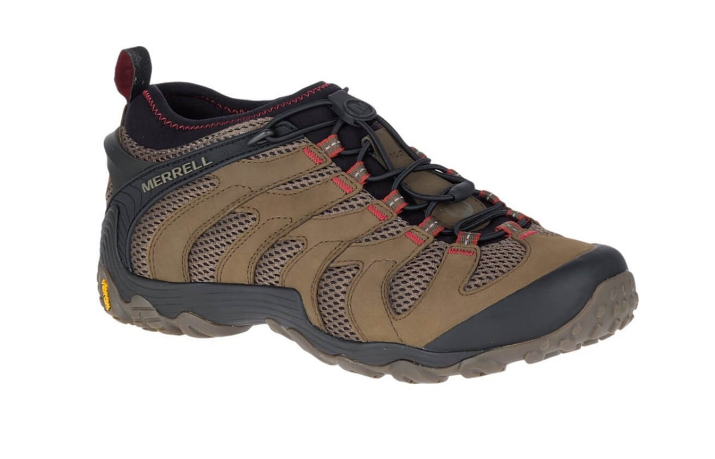 The Chameleon 7 Stretch is a durable trail hiking shoe.