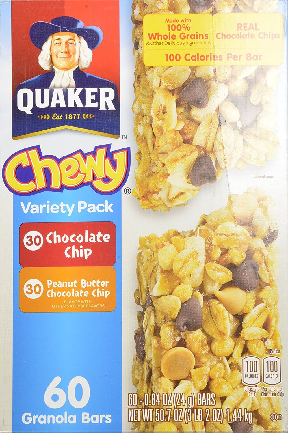 Quaker Chewy (Peanut Butter and Chocolate Chip)