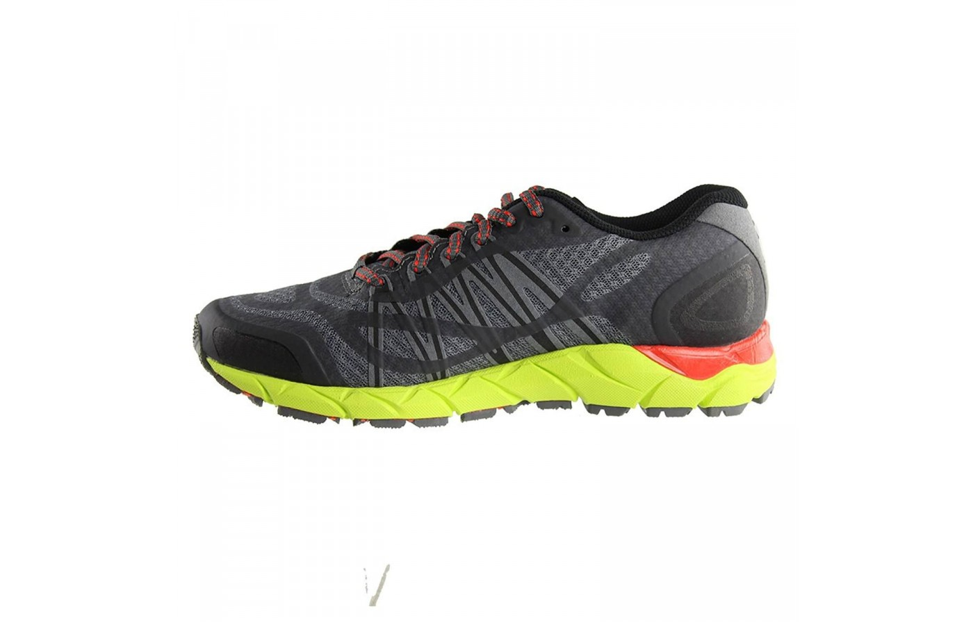 The midsole of the 361 Ortega 2 features a higher drop closer to traditional running shoes than the average trail runner.