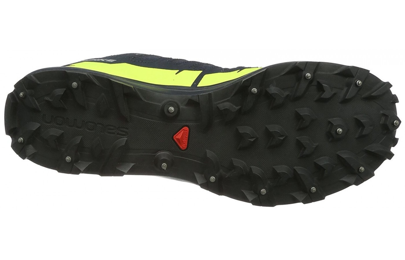 The Salomon Speedspike CS has 15 carbide spikes on its outsole