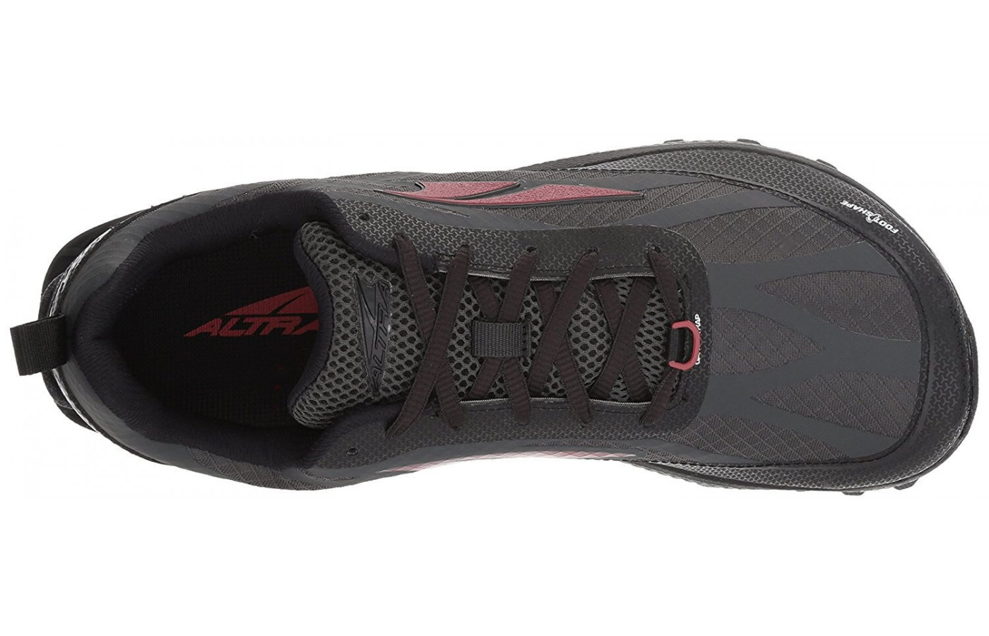 A StoneGuard rock plate toward the front of the Altra Superior 3.5's upper protects the wearer's toes from debris.