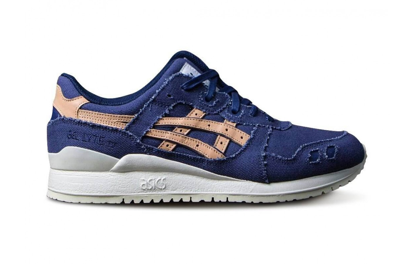 The Asics Gel Lyte III features a mesh and leather upper