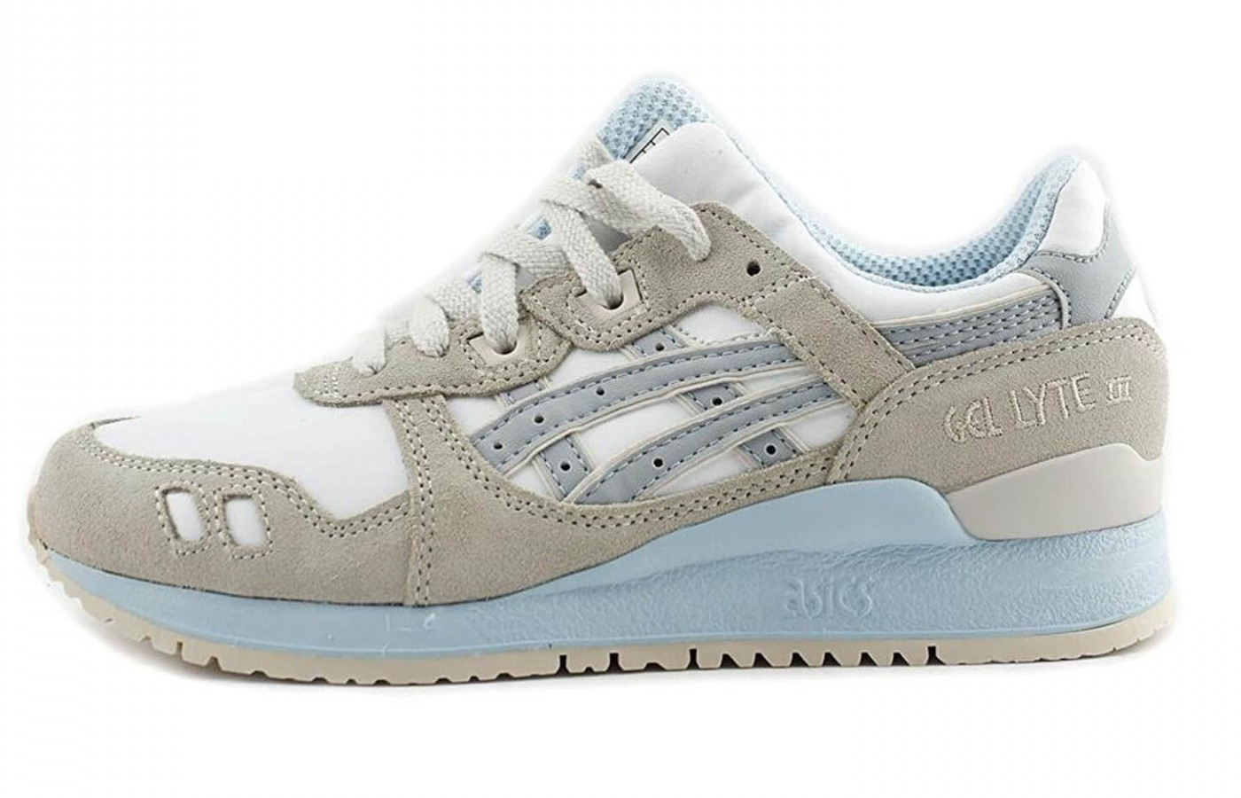 The Asics Gel Lyte III has a triple density EVA midsole