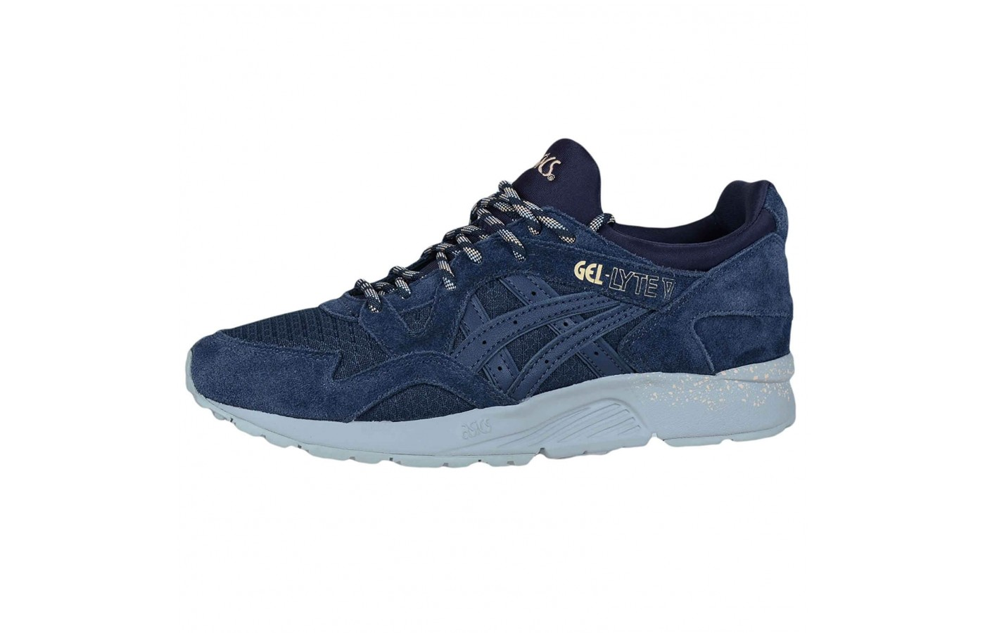 The Asics Gel Lyte V features GEL cushioning