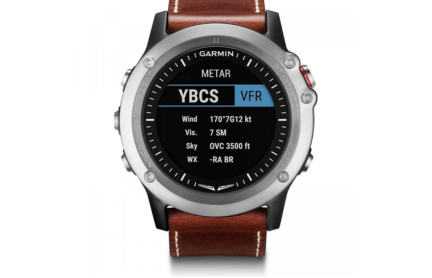 The Garmin D2 Bravo offers METAR & TAF displays