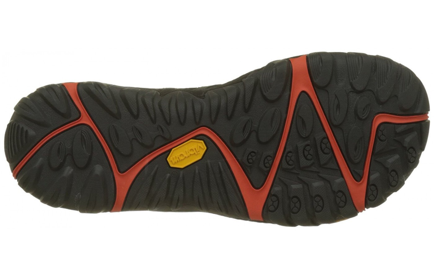 The Merrell All Out Blaze Sieve features a TC5+ Vibram brand outsole with 3mm lugs for a combination of durability and traction.