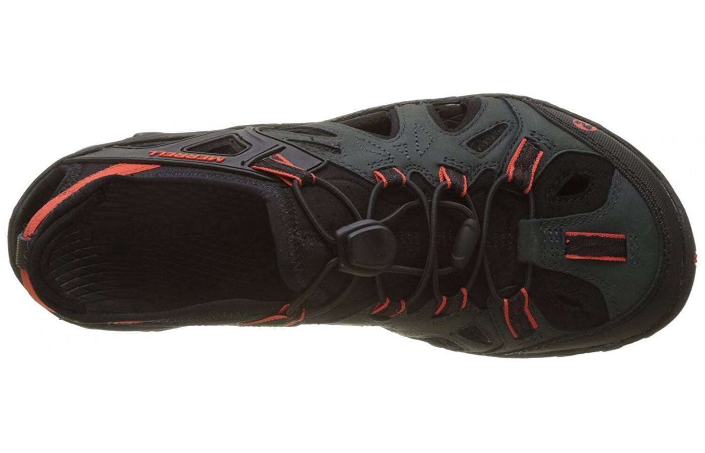 The Merrell All Out Blaze Sieve has a quick-drying Neoprene interior to help get rid of excess water that's made its way into the shoe.
