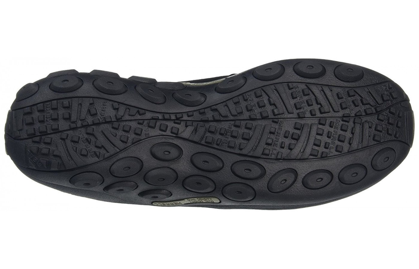 The Merrell Jungle Moc's outsole is made of M Select Grip material