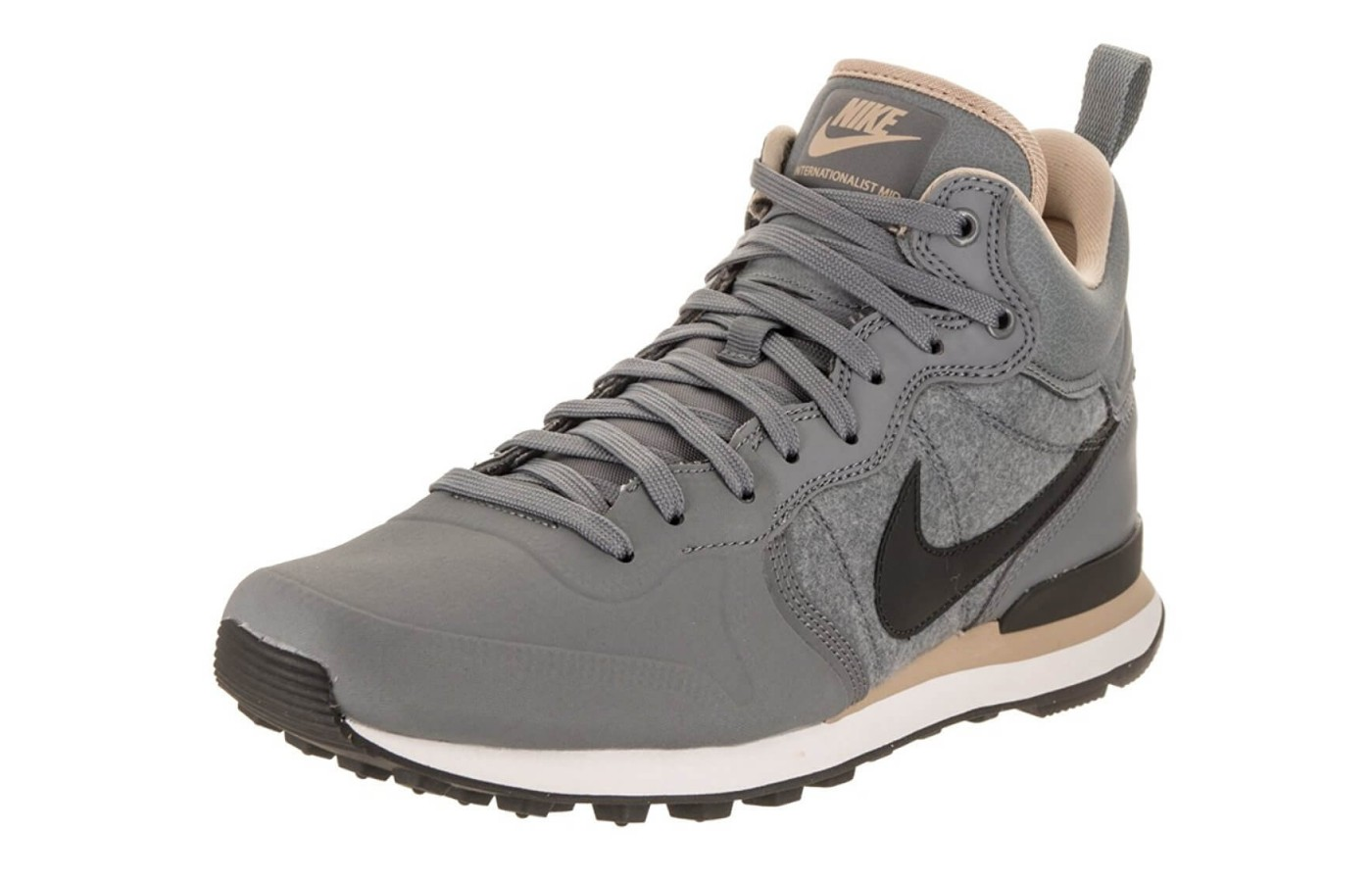 The Nike Internationalist Utility features a water-resistant upper