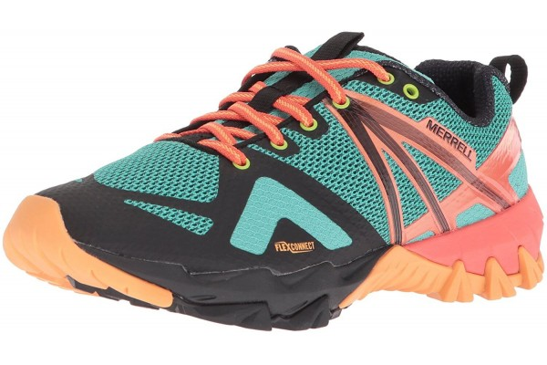 A colorful hybrid shoe for the outdoor enthusiast.
