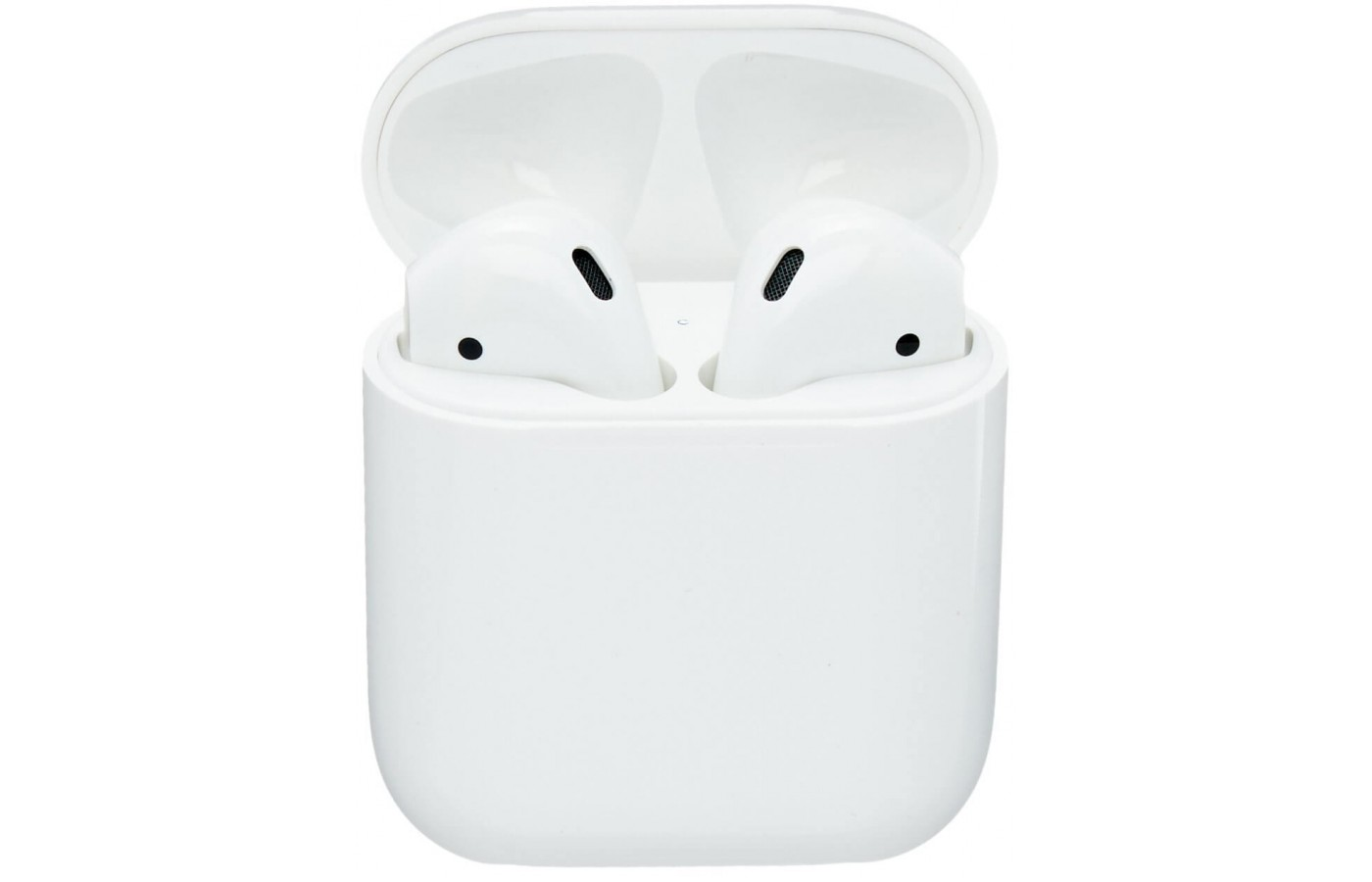 The Apple Air Pods come with a handle protective charging case
