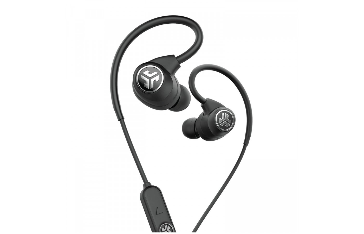 The The JLab Epic Sport headphones feature an in-line remote