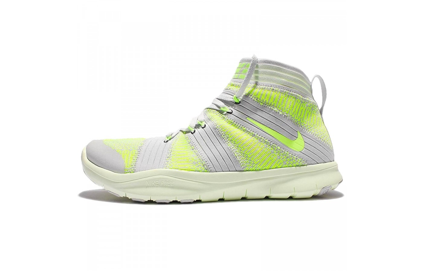 The Nike Free Train Virtue features a sock-like ankle collar