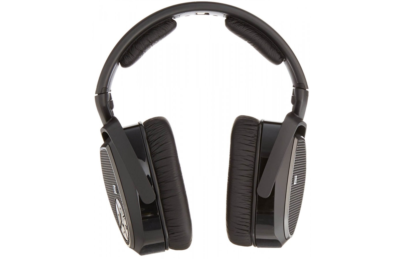 The Senheiser RS 175 headphones feature padded ear pieces and headband