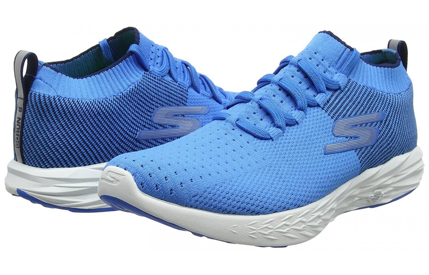 3d2d72a9 ... The Skechers GoRun 6 has a new knit upper design with a sock-like fit  ...