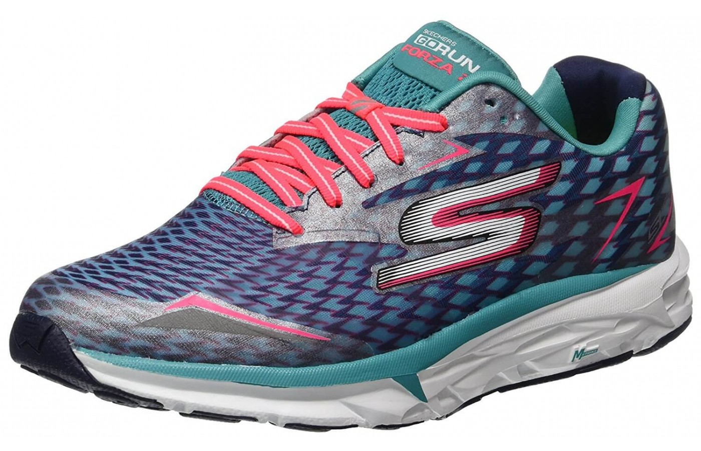 The Skechers GoRUN Forza 2 features an M-Strike midfoot rocker design