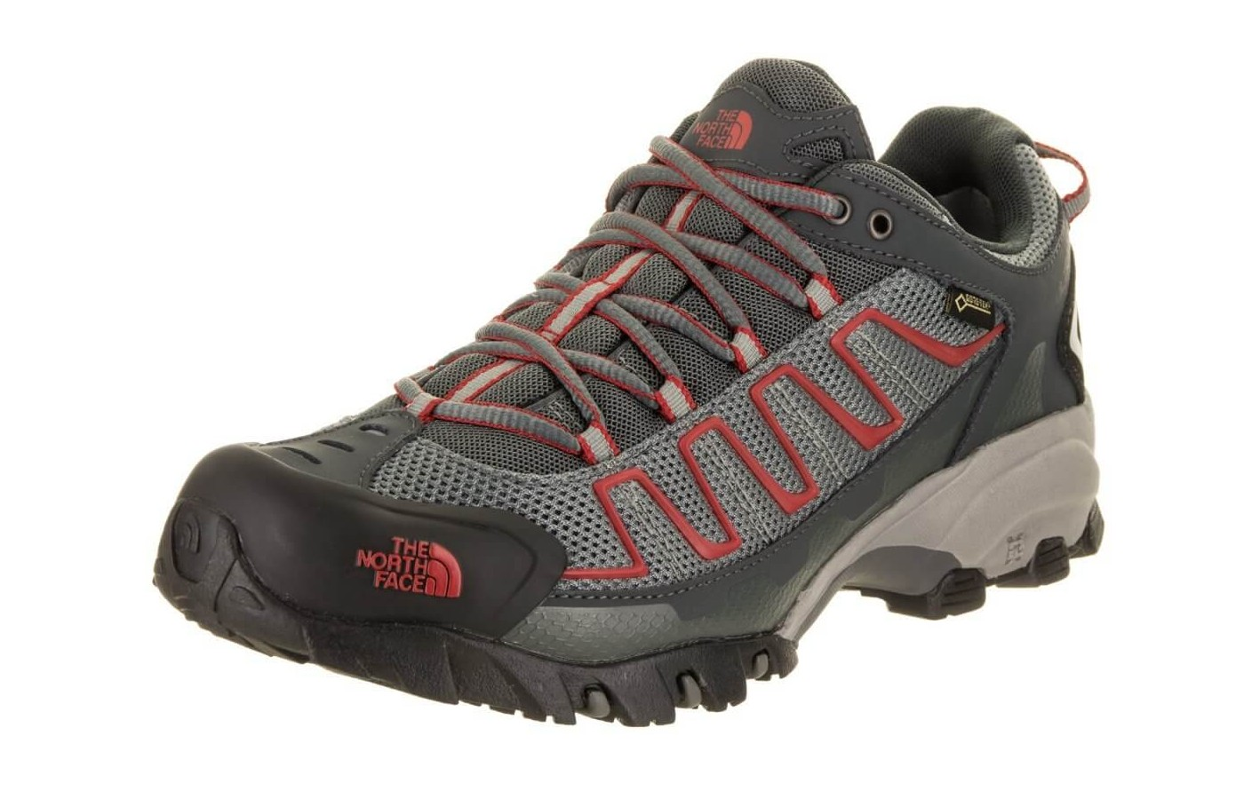 The The North Face Ultra 110 GTX features a mesh upper