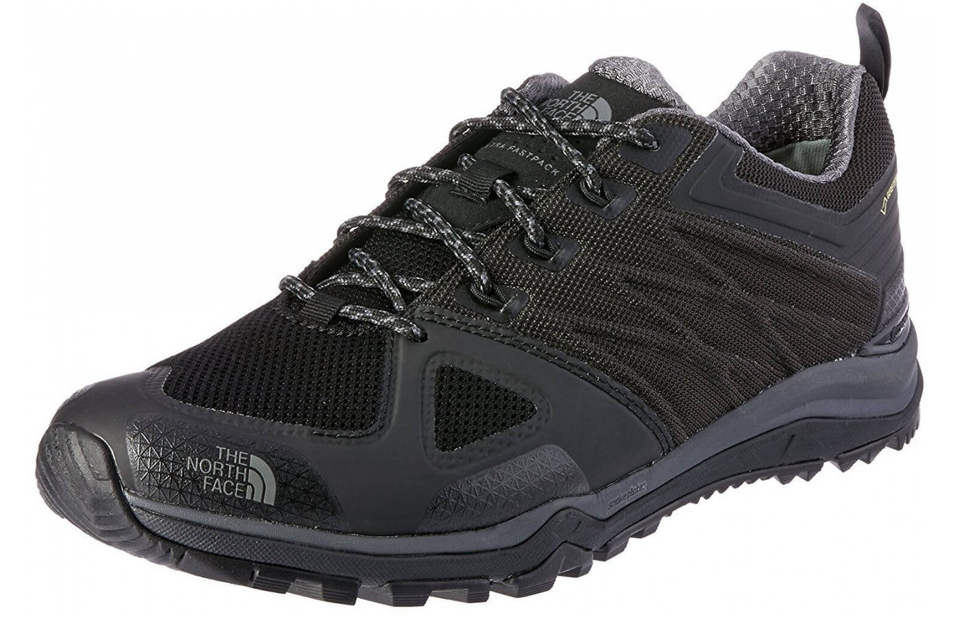 The The North Face Ultra Fastpack II GTX has a welded upper design for a lightweight supportive construction