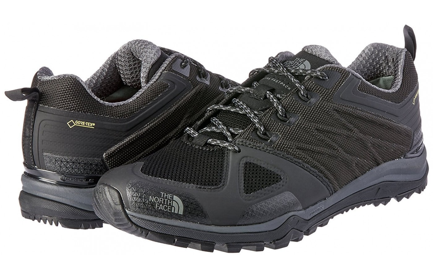 The The North Face Ultra Fastpack II GTX features a FlashDry collar
