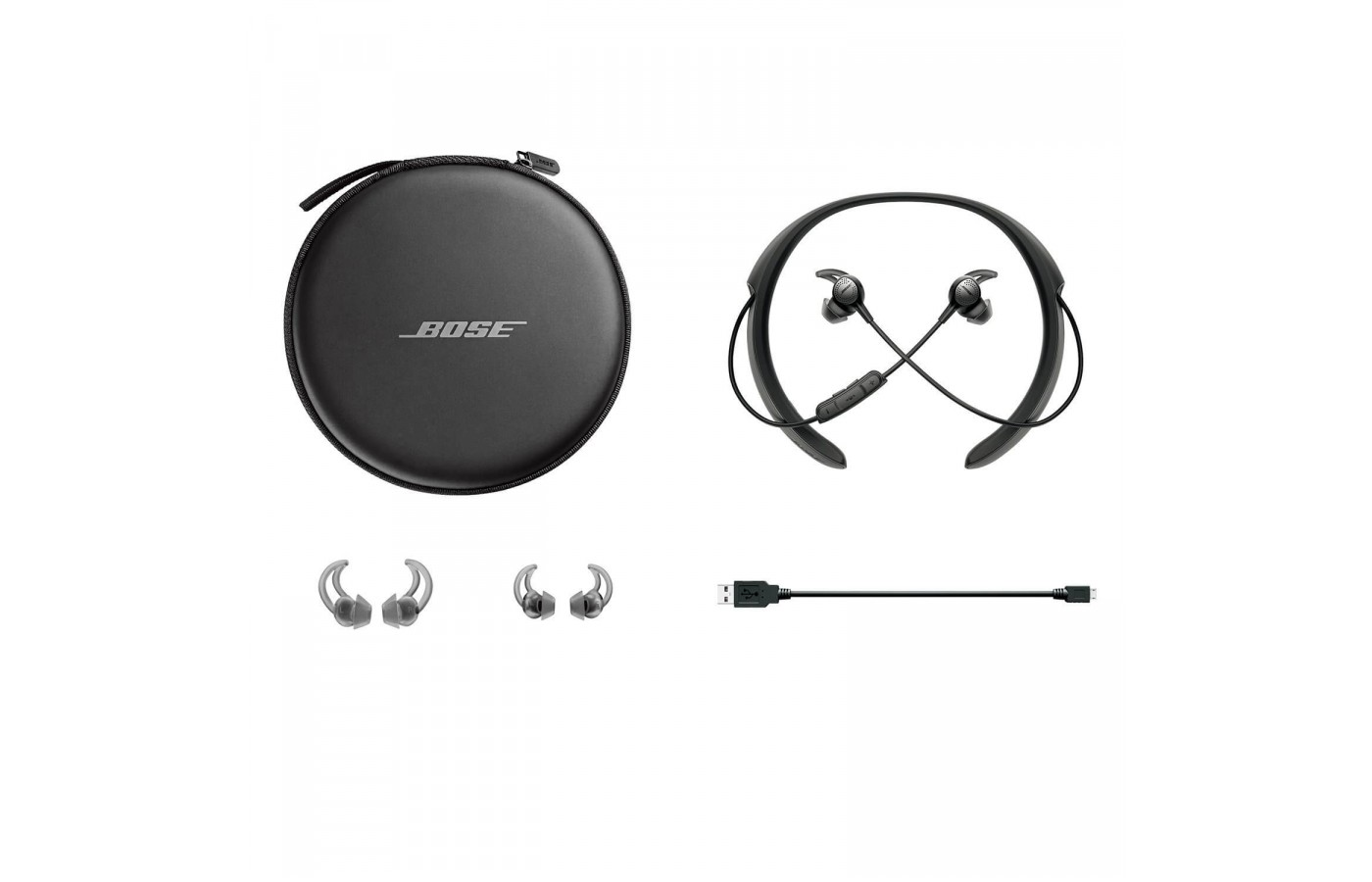 The full package for the Bose Quiet Comfort 30.
