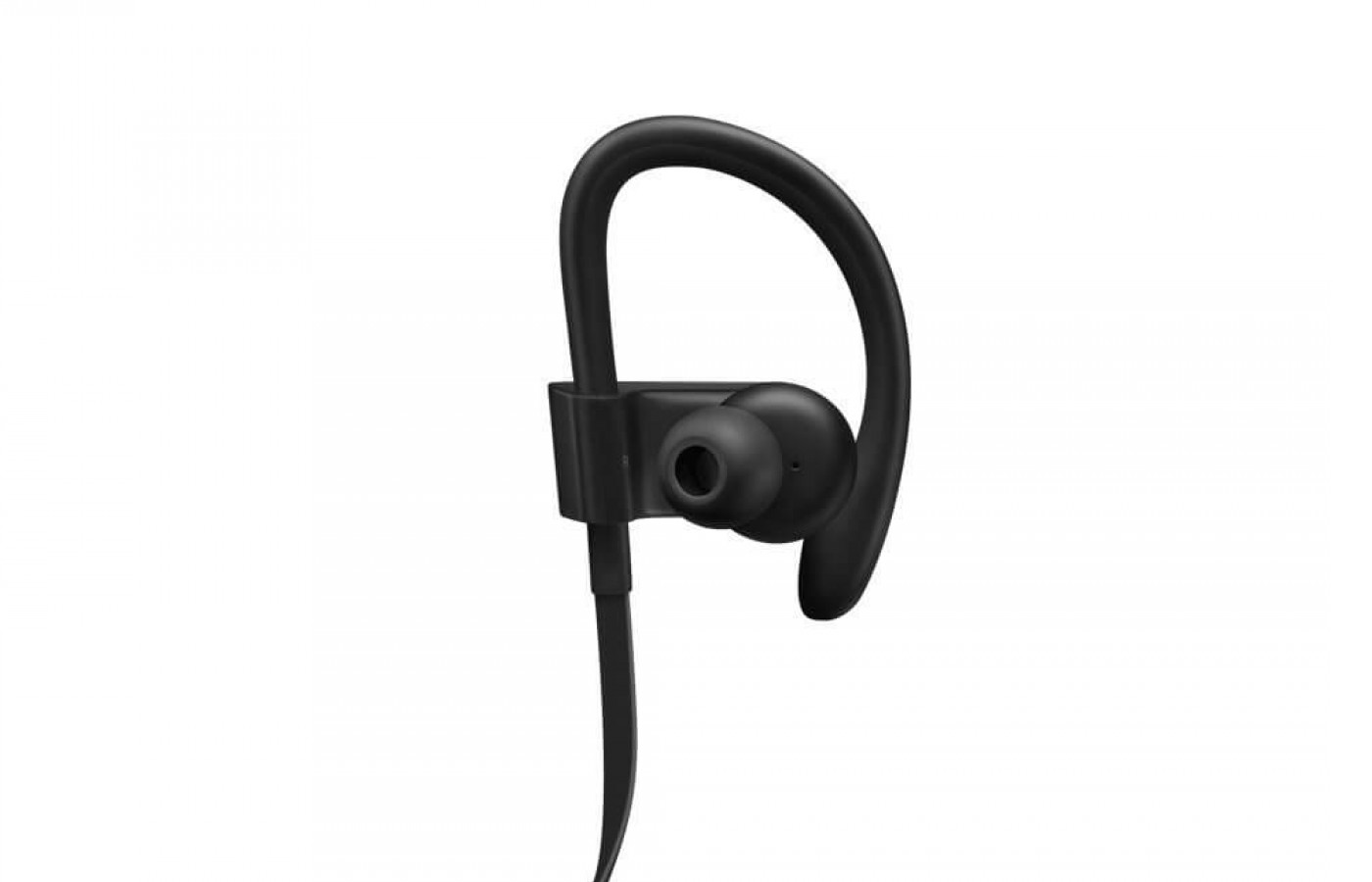 A closeup of the earbud for the Powerbeats 3.