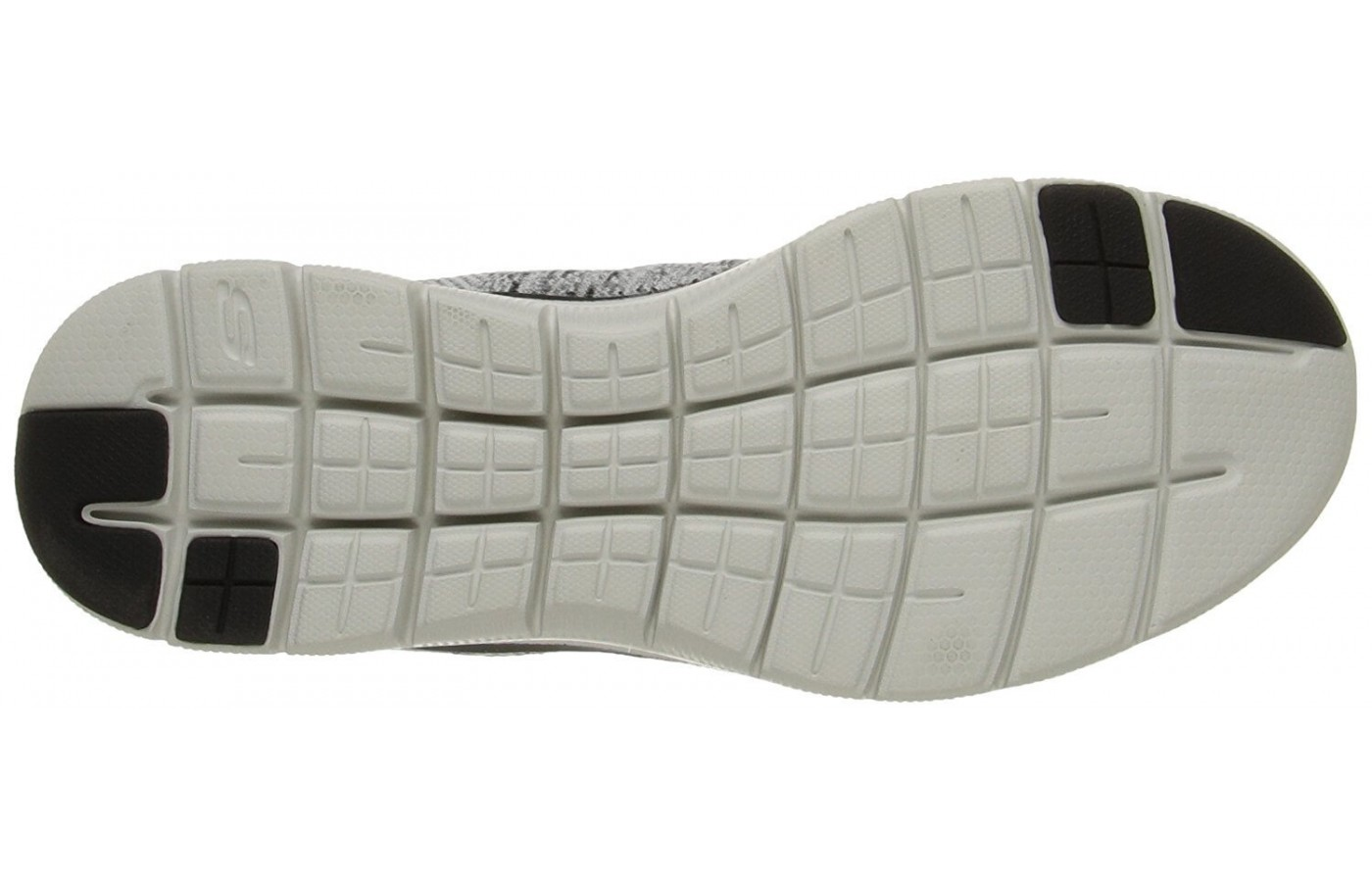 A bottom view of the Skechers Flex Advantage 2.0.