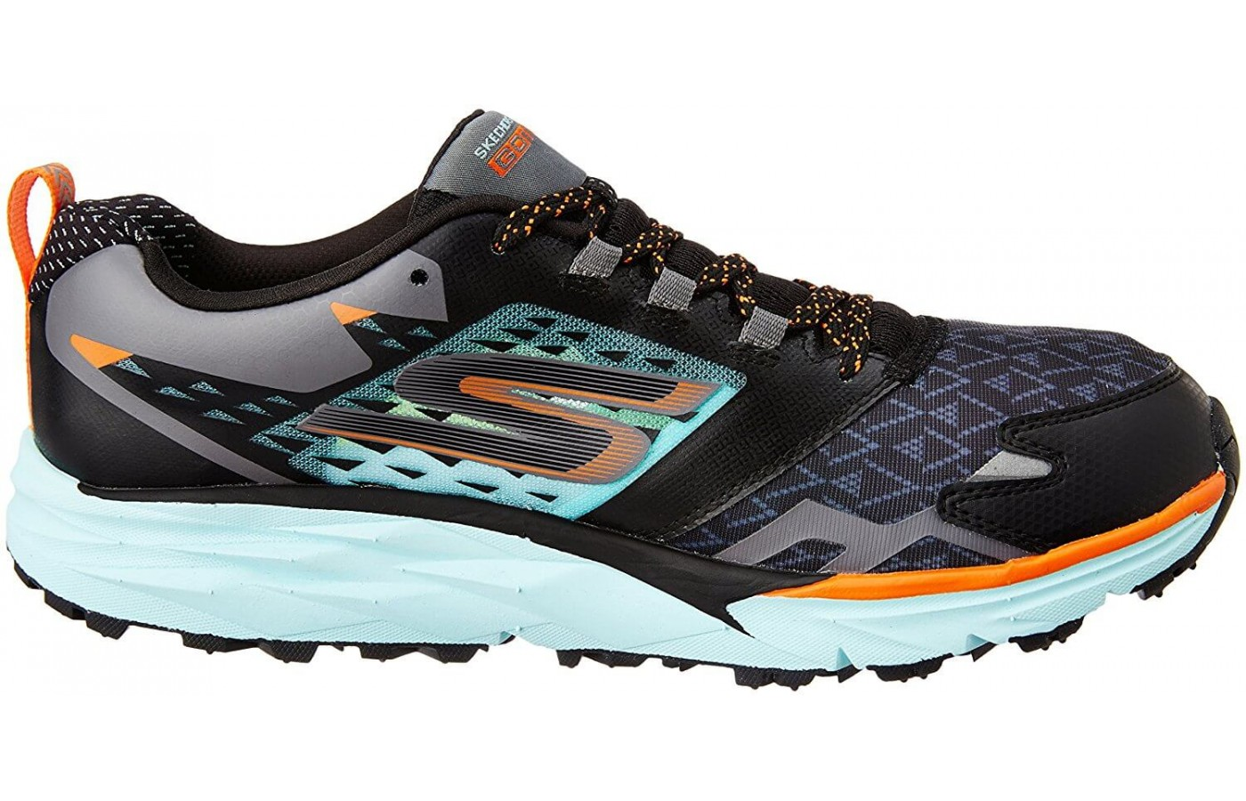 A view of the Skechers GoTrail's medial side.