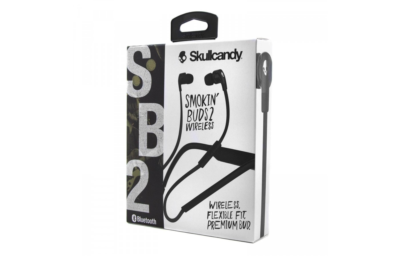 The box containing the Skullcandy Smokin' Buds 2.