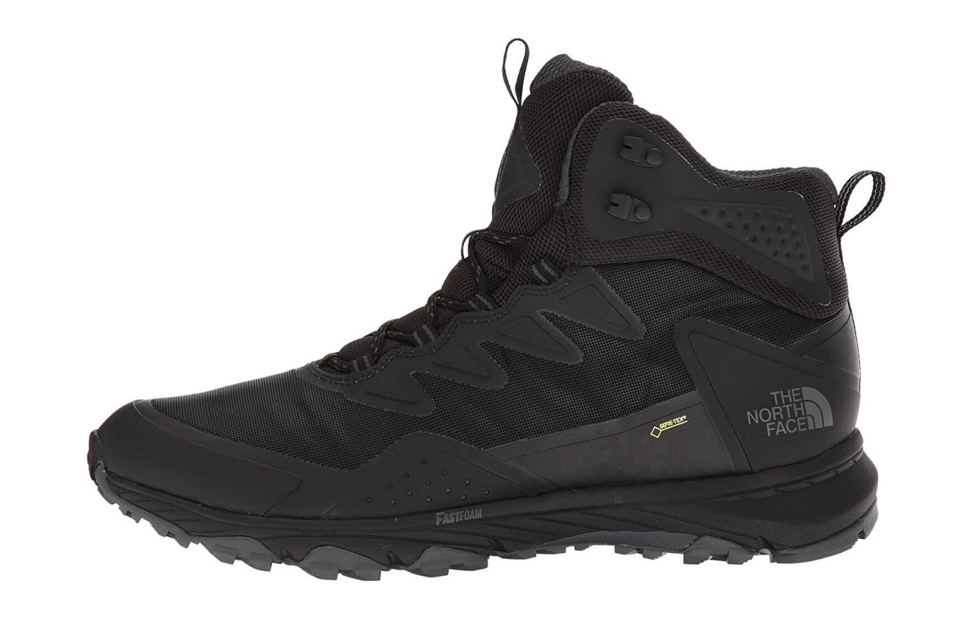 A medial angle of The North Face Ultra Fastpack III GTX.