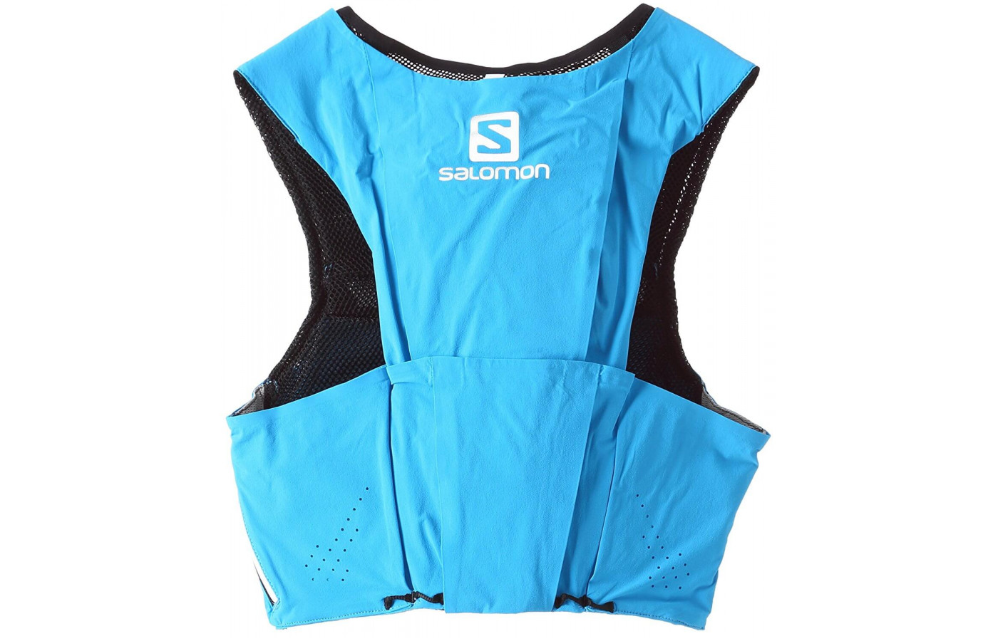 The Salomon S-Lab Sense Ultra 8 Set features a combination of zippered and stretch pockets