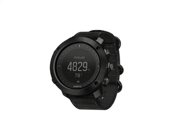 The altimeter screen for the Suunto Traverse Alpha