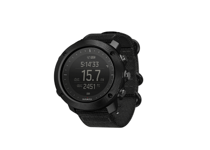 The GPS screen for the Suunto Traverse Alpha.