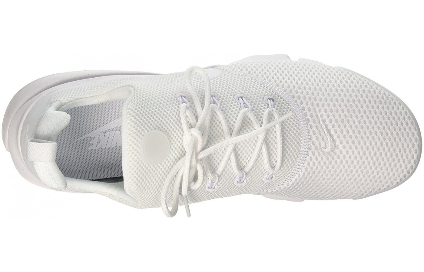 The breathable upper features a stretchy mesh.
