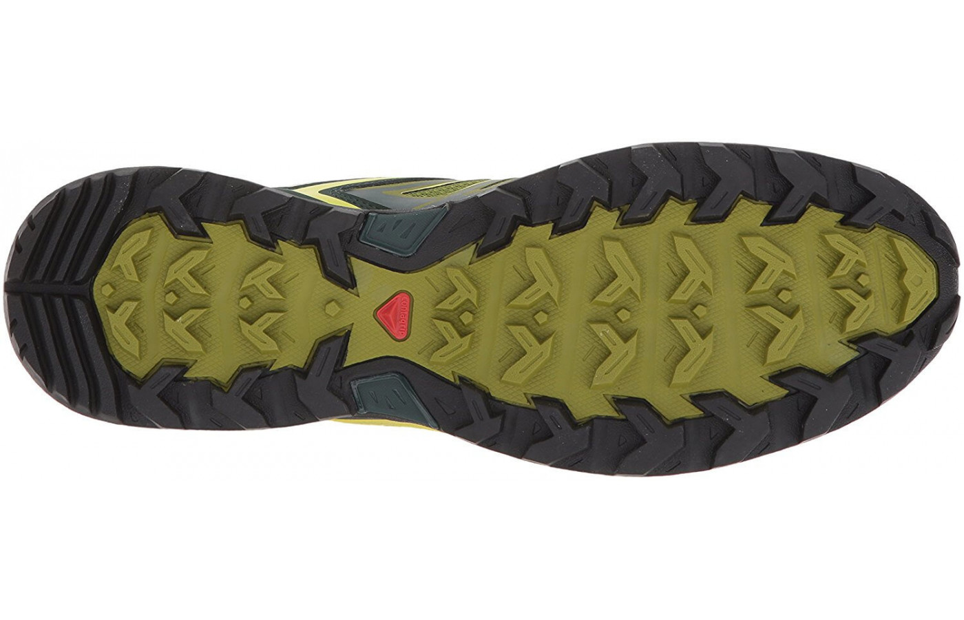 A bottom view of the Salomon X Ultra 3.
