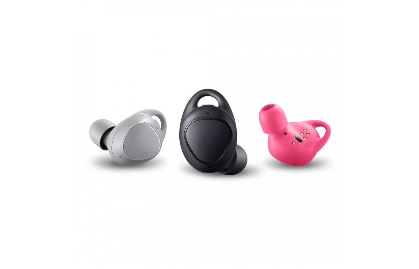 The different colors of the Samsung Gear IconX.